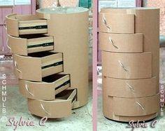 Jason Schneider makes amazing, curious, innovative, practical furniture designs from corrugated cardboard – BuzzTMZ Diy Cardboard Furniture, Cardboard Box Crafts, Cardboard Paper, Paper Crafts Origami, Diy Furniture, Diy Home Crafts, Diy Arts And Crafts, Carton Diy, Cardboard Organizer
