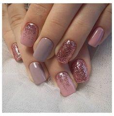 Short Nail Designs, Gel Nail Designs, Nails Design, Pedicure Designs, Toe Nail Art, Toe Nails, Nail Nail, Nails Ideias, Glitter Gel Nails