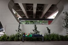 In Mexico City, planners turn vacant space under freeways into places to work, dine, play