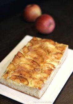 Mis recetas favoritas: Pan plano con manzana y queso crema (masa madre)