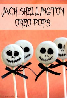 Big Bear's Wife: Jack Skellington Oreo Pops #SundaySupper