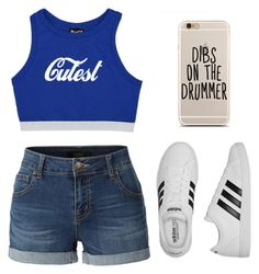 """""""Just casual"""" by stowies74 on Polyvore featuring LE3NO and adidas"""