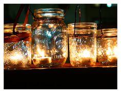 D-I-Y tea light lantern