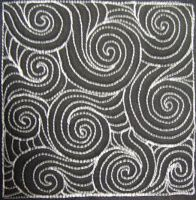 The Free Motion Quilting Project: Day 141 - Swirling Water