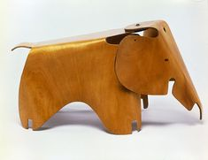 Charles and Ray Eames. Molded Plywood Division, Evans Merchandise Firm 1943–47 Venice. Elephant 1945. Moulded plywood.