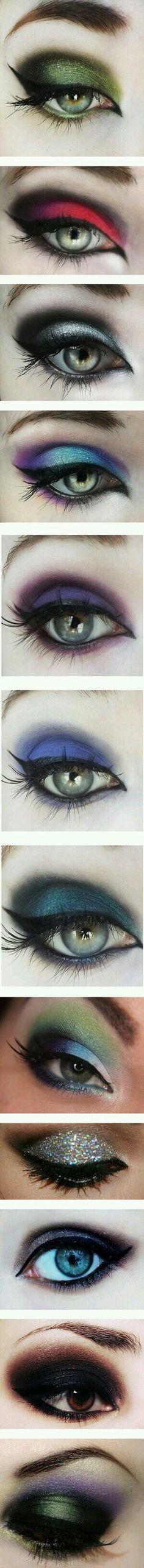 Winter colors https://www.steampunkartifacts.com/collections/steampunk-glasses #colorfuleyeshadows #eyemakeupsmokey