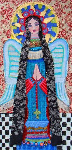 Mexican Folk Art Angels Print Poster Painting by HeatherGallerArt, $24.00