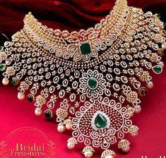 South Indian Jewellery, Indian Jewellery Design, Indian Jewelry, Jewelry Design, Diamond Mangalsutra, Diamond Jewelry, Gold Jewelry, Baby Jewelry, Wedding Jewelry