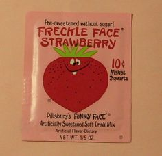 Vintage Pillsbury Funny Face Freckle Face Strawberry Drink Mix