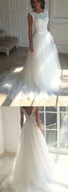 Princess Wedding Dresses, Lace Wedding Dress,Cheap Wedding Dress,Long