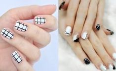 130 Easy And Beautiful Nail Art Designs 2018 Just For You Diamond Nail Designs, White Nail Designs, Diamond Nails, Nail Polish Designs, Nail Art Designs, Black And White Nail Art, White Nail Polish, Nail Swag, Nail Art Design Gallery