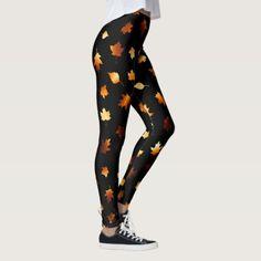 7efaf9fb3bfc7 Autumn Leaves Pattern Leggings - How many leggings do you own    fashionbloggers  leggings
