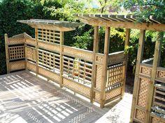 Tonnelle sur un patio Pergola, Outdoor Structures, Courtyards, Arbors