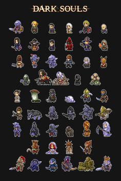 The Cosmos, Of Course! How To Pixel Art, Cool Pixel Art, Arte Dark Souls, Dark Souls 2, 2d Game Art, 8bit Art, Pixel Design, Pixel Art Games, Soul Art