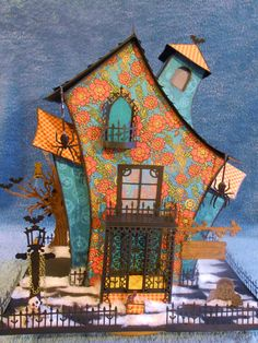 """This is my """"House of Spells"""" made with Graphic 45 Steampunk Spells collection.  See my videos on YouTube GracieCakes316 Grace Shaw"""