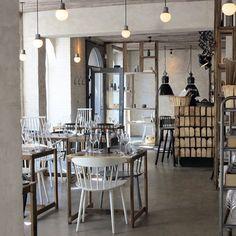 This just happened! Birthday dinner at 'HÖST' restaurant in Copenhagen // Interior designed by oh-so-worshipped // A very… Birthday Dinners, Copenhagen, Worship, Restaurant, Shit Happens, Interior Design, Table, Furniture, Instagram