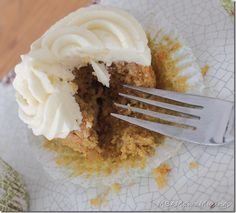 Carrot Ginger Cupcakes with Cream Cheese Frosting