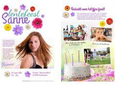 Uitnodiging lentefeest - krant maken
