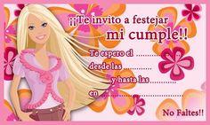 Tarjeta de cumpleaños de barbie