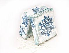 White Christmas  Wooden Box, Treasury Box , Jewelry box , distressed box , #ohtteam on Etsy