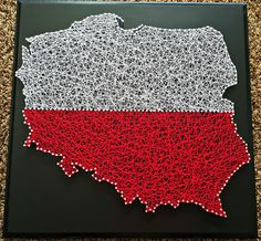 "20"" x 20"" Poland string art"