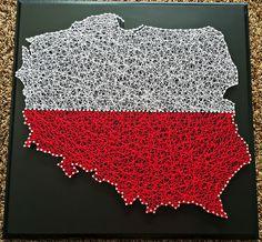 x Poland string art