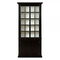 Charrell Home Interiors - CABINET RADMUND BLACK - 113 D 41 H 241 CM - vitrinekast