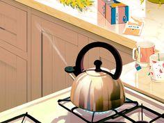 Folio illustration agency, London, UK | Rebecca Mock - texture, animation, editorial, gif, scene, graphic, character - Illustrator