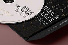 Psd CD Disk Sleeve Mock Up