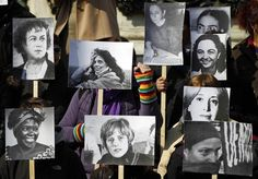 Serbia    Women hold pictures of famous female activists during demonstrations to mark International Women's Day in Belgrade, Serbia on March 8.