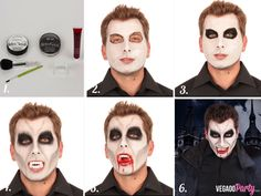 Maquillage Vampire adulte Up Halloween Costumes, Halloween Gif, Halloween 2018, Halloween Face Makeup, Maquillage Halloween Vampire, Dracula Costume, Fantasias Halloween, Fantasy Makeup, Diy Halloween Decorations