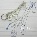 Keychains, etc. made from kid drawings.