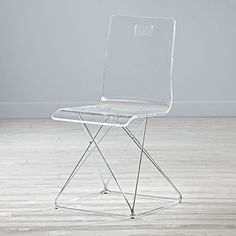 Now You See It Acrylic And Silver Desk Chair