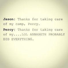 Jason Grace, Percy Jackson, Annabeth Chase