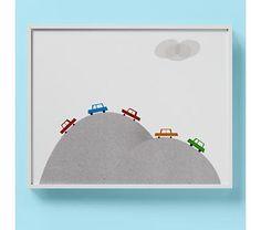 Kids' Poster, Prints & Wall Art: Kids Car Illustration Limited Edition Wall Art