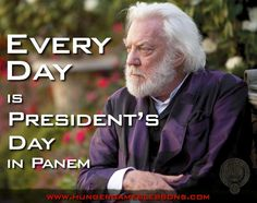 "Every day is ""President's Day"" in Panem. #HungerGames blog post on www.hungergameslessons.com"