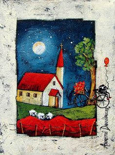 Artwork of Anette Dannhauser exhibited at Robertson Art Gallery, specialists in the selling of original art of top South African Artists. Africa Art, My Art Studio, Kitsch, Encaustic Art, Arte Popular, Naive Art, Collage, Pretty Art, Anime Art Girl