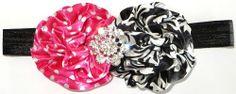 Hot Pink DOT Damask Headband sparkleinpink.com Custom Headbands, Pink Headbands, Pink Damask, Cute Girls, Hot Pink, Girl Outfits, Dots, Pink Dot, Accessories