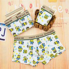 2016 New Panties Kids Boys Cute Little Minion Boy Boxer Underwear Cotton Cartoon Dot Children Underwear Boys Briefs Underwear♦️ SMS - F A S H I O N  http://www.sms.hr/products/2016-new-panties-kids-boys-cute-little-minion-boy-boxer-underwear-cotton-cartoon-dot-children-underwear-boys-briefs-underwear/ US $1.70