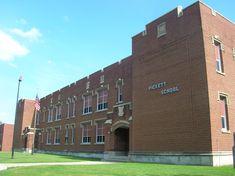 Pickett School (1936)--Toledo, Ohio | Aaron Turner | Flickr Toledo Ohio, Altars, Colleges, Schools, University, History, Outdoor Decor, Facebook, Usa