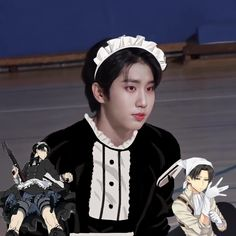 Maid Outfit, Maid Dress, K Pop, Baby Squirrel, Baby Chipmunk, Min Yoonji, Kpop Posters, Kids Icon, Kid Memes