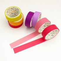 Bright+color+tape+set+made+of+washi+paper Great+for+scrapbooking,+decorative+use,+planners,+gift+wrap,+etc  Quantity:+7+pcs Size:+15+mm(W)+x+3+m(L)