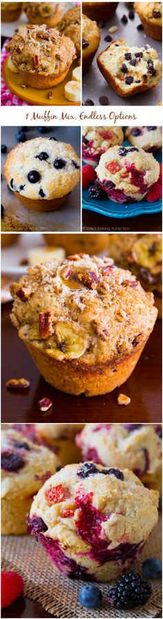 ~Use my kitchen tested bakery-style muffin batter to create all your favorite muffin recipes! 1 muffin mix, endless options~