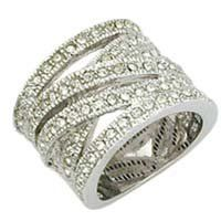I love stackable diamond bands! Maybe with fewer bands though...