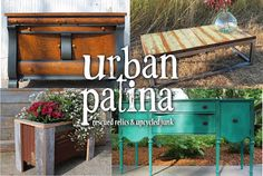 Urban Patina: Rescued Relics + Upcycled Junk. The owner mixes Annie Sloan paints to create unique and customized colors.
