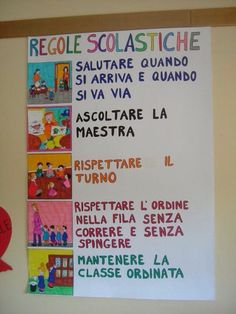 First Day Of School Pictures, 1st Day Of School, Primary School, Classroom Organisation, Classroom Management, Classroom Board, Italian Language, Learning Italian, Language Activities