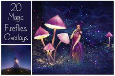 20 Magic Fireflies Overlays by LovePhotoMoment on @creativemarket