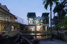 Casa Đàm lộc,© Triệu Chiến Studio Photo, Townhouse, Vietnam, Second Floor, Tube, Photograph, Fotografie, Terraced House, Photography