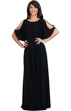 5f3b0c1aba8 KOH KOH Plus Size Womens Long Split Flowy Short Sleeve with Sleeves Elegant  Cocktail Loose Casual Day Summer Sexy Sundress Gown Gowns Maxi Dress  Dresses for ...