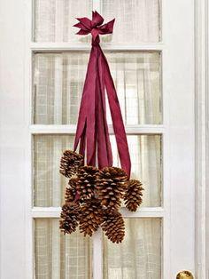 pinecones for the back door